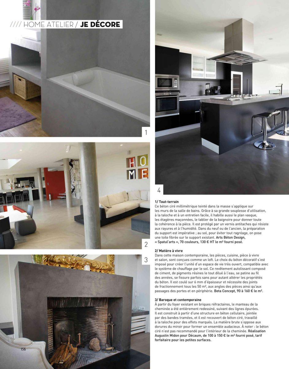Parution de Décaum dans le magazine Home en 2e page