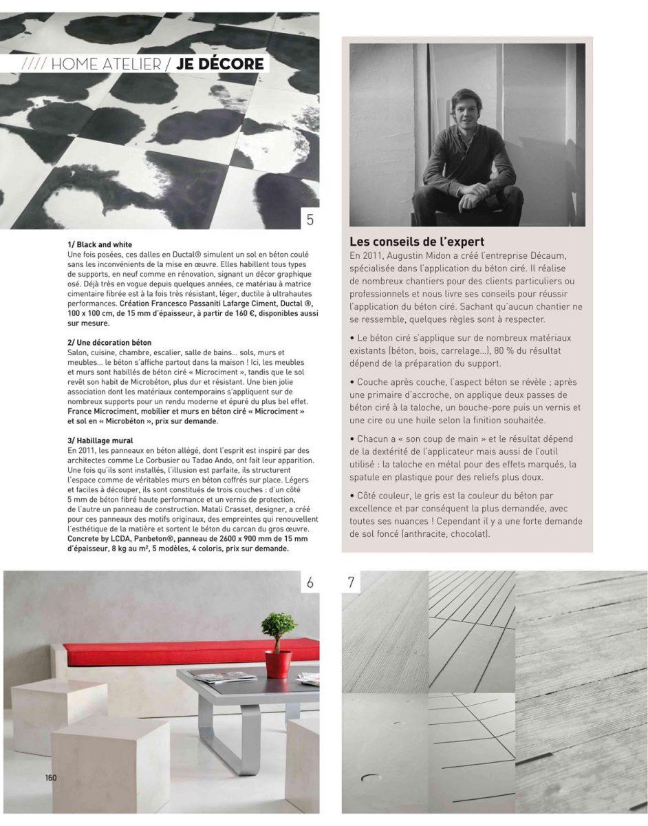 Parution de Décaum dans le magazine Home en 3e page