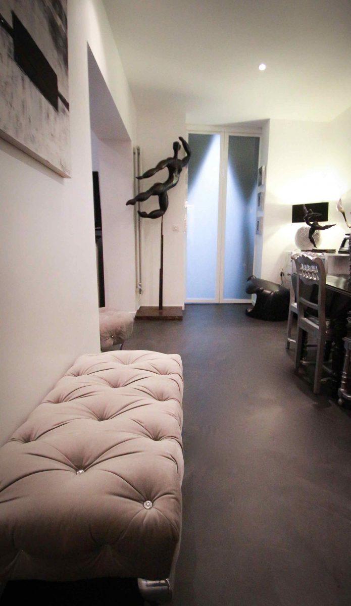 béton ciré spatulé appartement Décaum Paris 15
