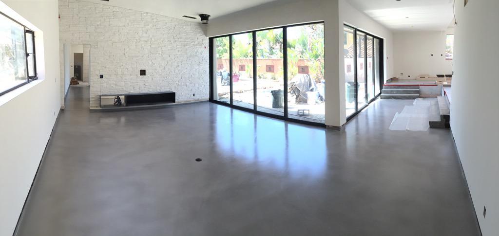 Béton ciré paris décaum villa privée californie