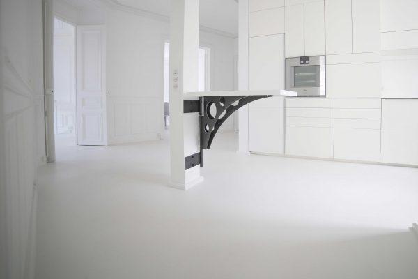 Béton ciré taloché Décaum Paris 3 appartement