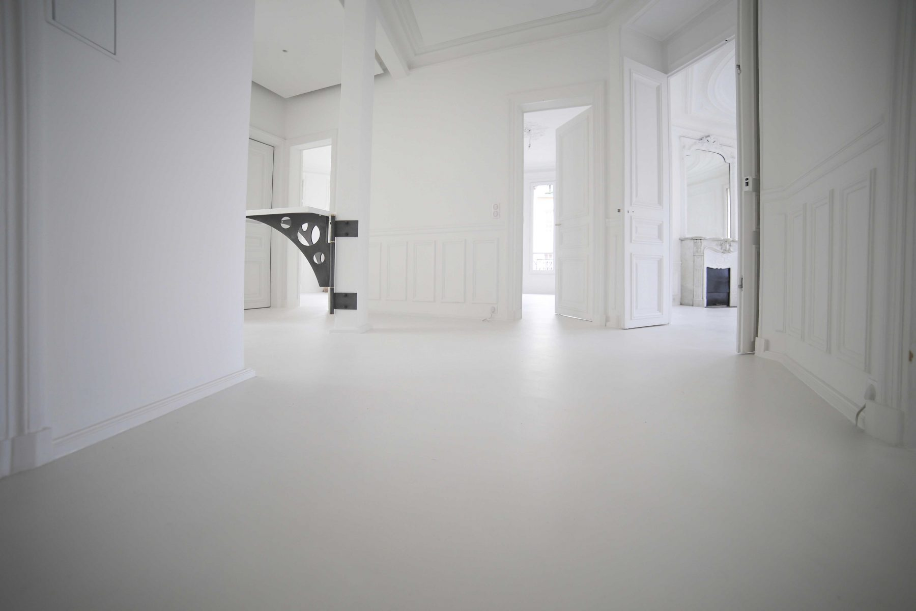 Béton ciré taloché Décaum Paris 3 appartement entreprise spécialiste