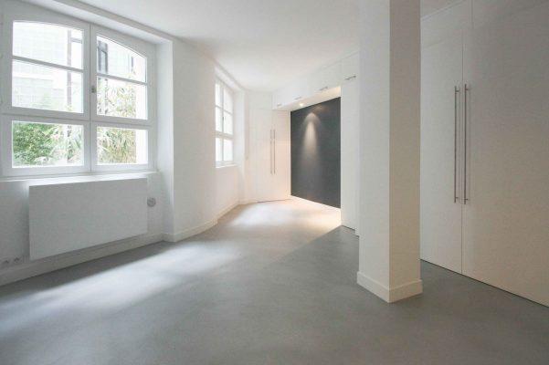 sol béton ciré spatulé appartement Décaum paris 2