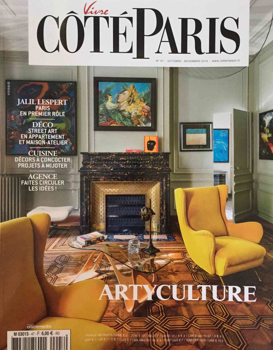 Parution de Décaum dans le magazine Côté Paris en page de couverture
