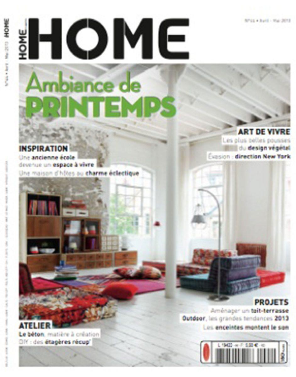 Parution de Décaum dans le magazine Home en page de couverture