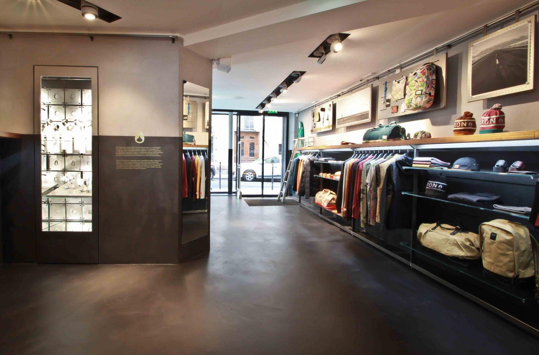 Béton ciré Décaum boutique Nixon Paris 3